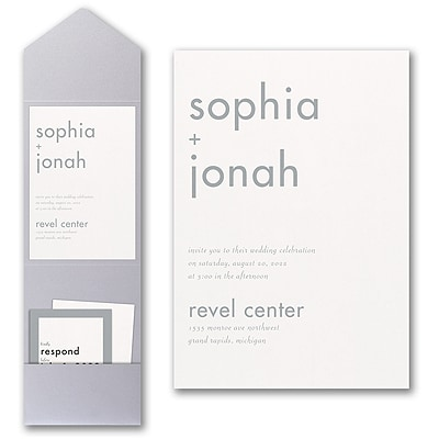 Decoratively Modern Invitation with Pocket