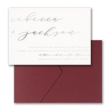 Forever Us Invitation with Pocket