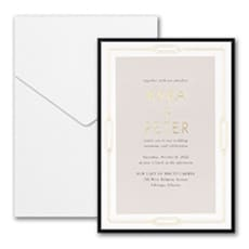 Geo Frame Invitation with Pocket and Backer  - Modern Invitation