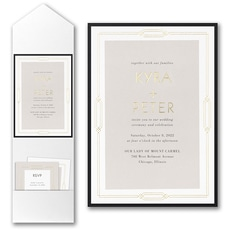 : Geo Frame Invitation with Pocket and Backer