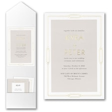 Best Selling Wedding Invitation: Geo Frame Invitation with Pocket