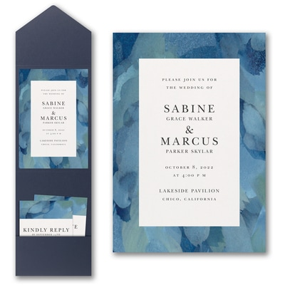 Magical Watercolors Invitation with Pocket