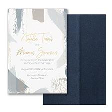 Painterly Decadence Invitation with Pocket