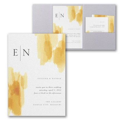 Painted Passion Invitation with Pocket