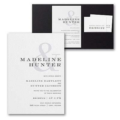 Modern Ampersand Invitation with Pocket