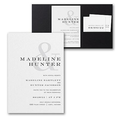 Modern Ampersand Invitation with Pocket