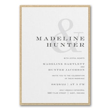 Modern Ampersand Invitation with Backer