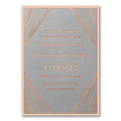 Geometric Stripes Invitation with Backer