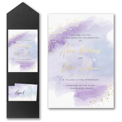 Watercolor Dreams Invitation with Pocket