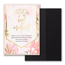 Vibrant Botanicals Invitation with Pocket and Backer  - Pocket Invitation