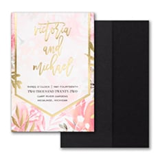 Vibrant Botanicals Invitation with Pocket  - Pocket Invitation