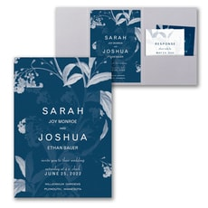 Floral Elegance Invitation with Pocket  - Pocket Invitation