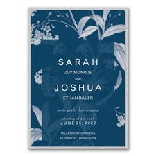 Floral Elegance Invitation with Backer