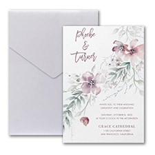 Boho Sophistication Invitation with Pocket