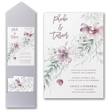 Boho Sophistication Invitation with Pocket  - Pocket Invitation