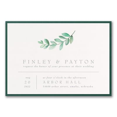 Simplistic Botanical Invitation with Backer