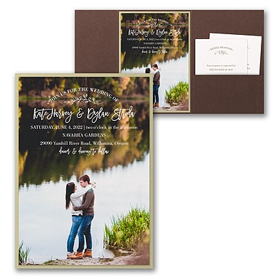 Picturesque Elegance Invitation with Pocket and Backer