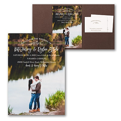 Picturesque Elegance Invitation with Pocket