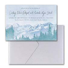 Mountain Beauty Invitation with Pocket