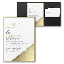 Best Selling Wedding Invitation: Modern Shine Invitation with Pocket and Backer