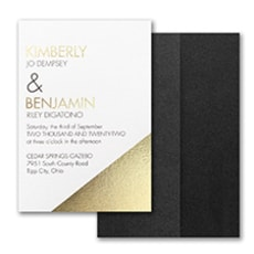 Modern Shine Invitation with Pocket - Pocket Invitation