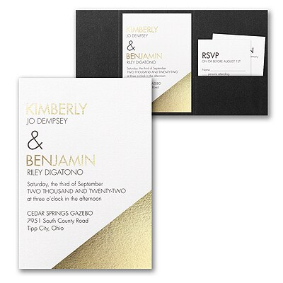 Modern Shine Invitation with Pocket