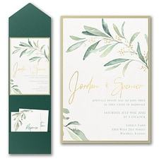 Luxury wedding invitations: Fresh Daydream Invitation with Pocket and Backer