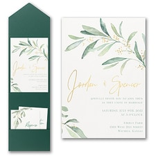 Modern wedding Invitation: Fresh Daydream Invitation with Pocket