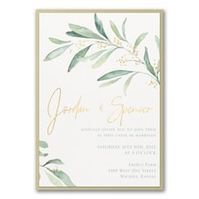 Modern wedding Invitation: Fresh Daydream Invitation with Backer
