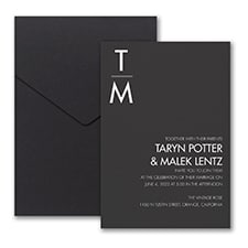 Classic Typography Invitation with Pocket