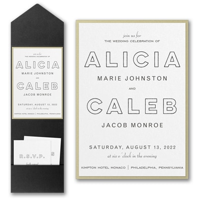 Bold Beauty Invitation with Pocket and Backer
