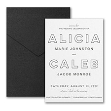 Bold Beauty Invitation with Pocket
