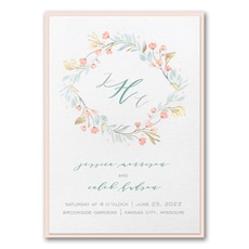 Fresh Monogram Invitation with Backer  - Monogram Invitation