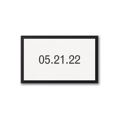 Date Digital Tab with Backer