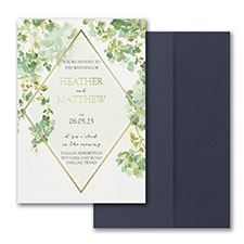 Cascading Vine Invitation with Pocket