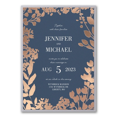 Decorative Floral Border Invitation with Backer