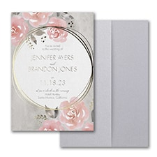 Pastel Roses Invitation with Pocket