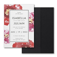Bloom Bright Invitation with Pocket