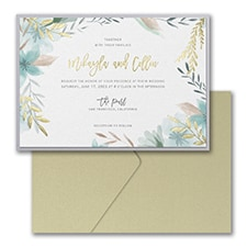 Botanic Beauty Invitation with Pocket and Backer