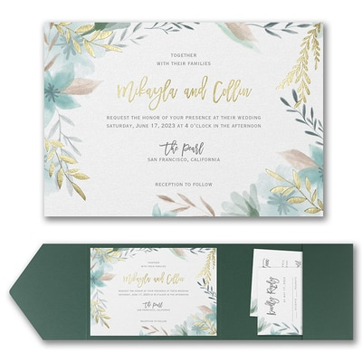 Botanic Beauty Invitation with Pocket