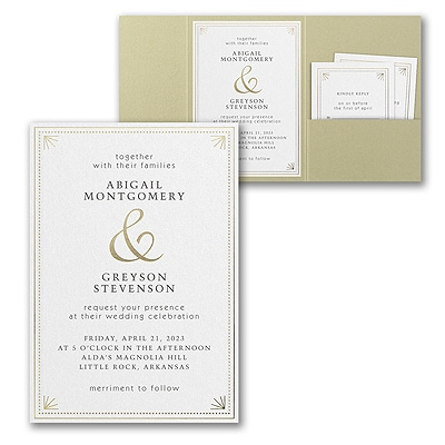 Deco Dots and Lines Invitation with Pocket