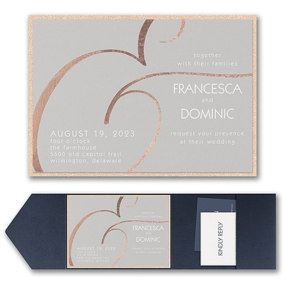 Large Ampersand Invitation with Pocket and Backer