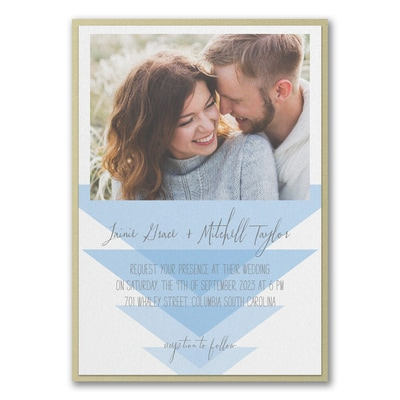 Geometric Triangles Invitation with Backer