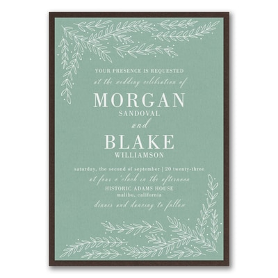 Whimsical Sprigs Invitation with Backer