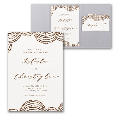 Dotted Garland Invitation with Pocket