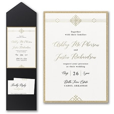 Luxury wedding invitations: Deco Expressions Invitation with Pocket and Backer