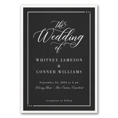 Edged Wedding Invitation with Backer