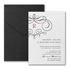 Wistful Monogram Invitation with Pocket