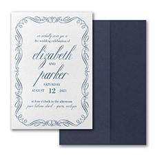 Stately Frame Invitation with Pocket