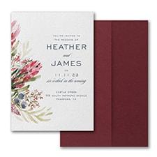 Floral Fondness Invitation with Pocket